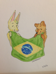Coming to Brazil by Straw-Bear