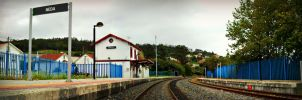 Train Station of Neda, Spain by carrodeguas