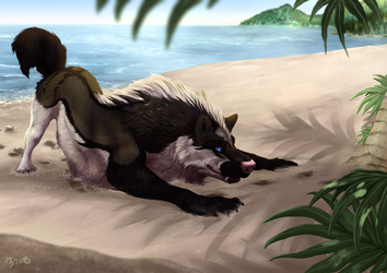 YCH Commish: Thrill of the Hunt by Aminirus