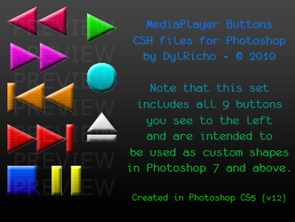 MediaPlayer Buttons - CSH by dylricho