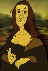 Mona Lisa WIP by connorshipway