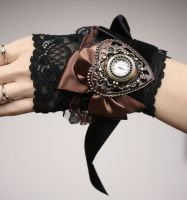 Ruffle watch cuff by Pinkabsinthe
