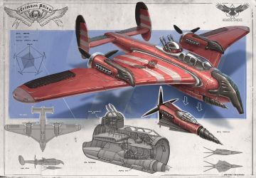 Redesign: Crimson Skies (Carrier heavy fighter) by martydesign