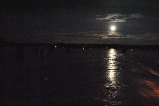 Moonshine on Ossipee by shuttrmouse