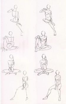Sketches 29 - Woman sitting practice by AzizlaSwiftwind