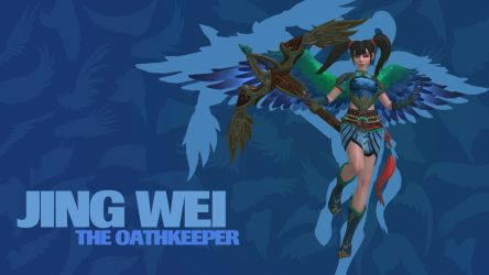 SMITE - Jing Wei, The Oathkeeper (Wallpaper) by Getsukeii