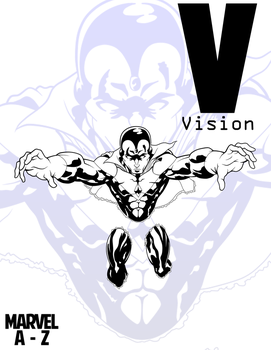 MARVEL Heroes A-Z::Vision by RockDeadman