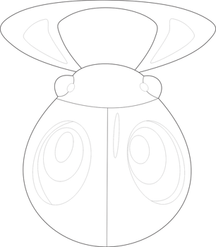 Froodals 29 43 Lineart Of Bug Badge By InuKawaiiLover