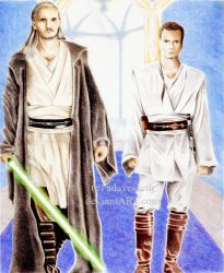 Obi-Wan and Qui-Gon by adavesseth
