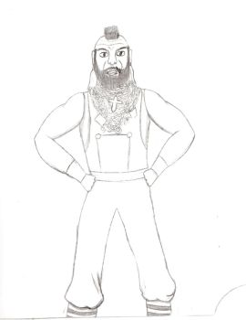 Mr. T sketch by Nerdroditie