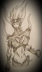 Goddess of the Thorn by PencylOnPapyr