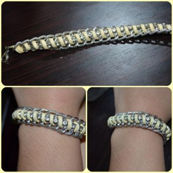 Yellow chain-rhinestone Bracelet by ghelalala
