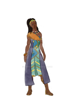 African Warrior Woman by chrismaka
