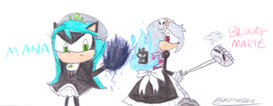Mana and Marie by SkullHog