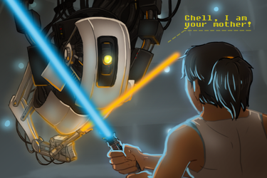 Chell! I'm your mother! by Moony-moo
