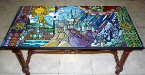 Potter/Disney coffee table :)) by WormholePaintings