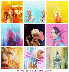 The Fifth Element Icons by lisbethsalanders
