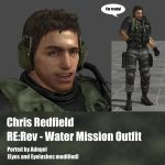 Chris Redfield RE:Rev Water Mission Outfit by Adngel