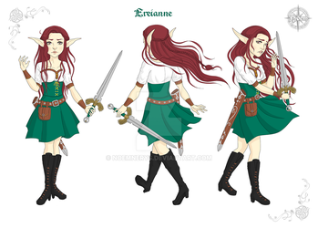 Ereianne, Character Design by Noemnerys