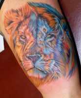 a lion by tat2istcecil