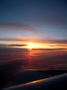 sunset from a plane by uncle-cheb