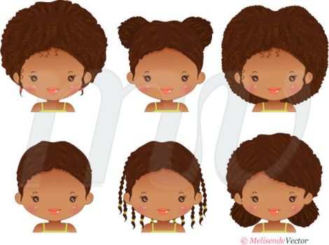 African Hairstyles by Melisendevector