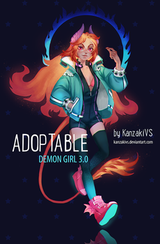 ADOPTABLE DEMON 3.0 (closed) by KanzakiVS