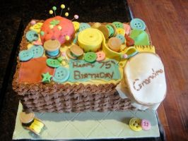 Quilter's Box Cake by esharra