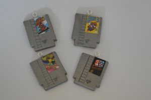 NES Games - Polymer Clay Charms by PiinkKittyy