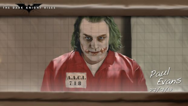 The Dark Knight Rises : The Joker by AngryPIG