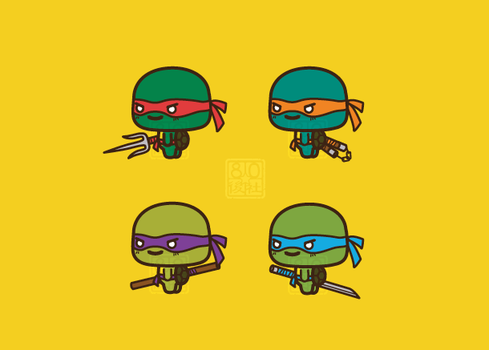 Chibi Ninja Turtles by aiwa-9