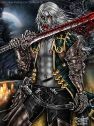 Alucard ((Bloody)) - Castlevania Lords of Shadow 2 by Bluue-Rose