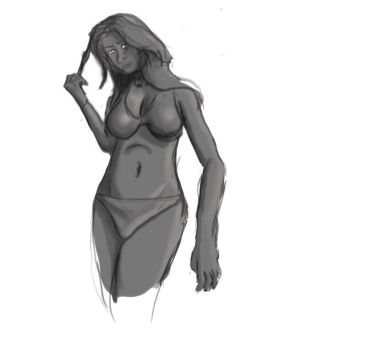 figure drawing exercise no.1 by F3ras
