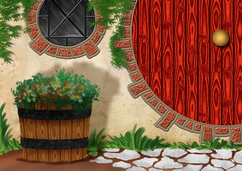 Free Hobbit Hole Background by SweetLittleVampire