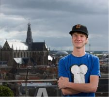 Me with the skyline of Haarlem by Kelsievent