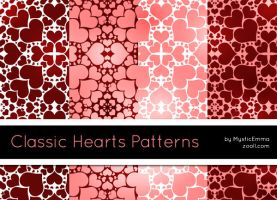 Classic Hearts Patterns by MysticEmma