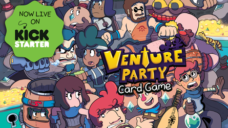 VENTURE PARTY: Now Live On Kickstarter! by GeorgeRottkamp