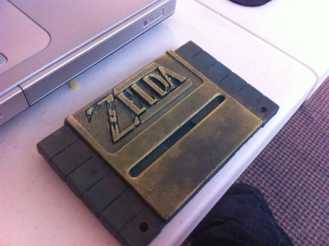 Zelda Hyrulian SNES Cart - 3D print custom paint by RoseColoredGaming