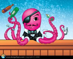 Octopus Mascot by designfxpro