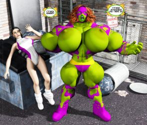 Titania's Hulk-Out 04 by Stone3D