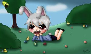 Easter rabbit - prix concours Chouphie by Renarde83