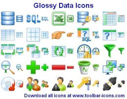Glossy Data Icons by Ikonod