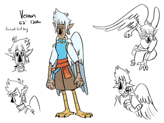 Vernon the Bird wizard by CrazyIguana