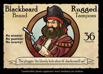 Blackbeard's Rugged Tampons by ursulav