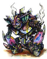Steampunk Pokemon: Nidoking