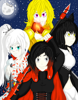 Team RWBY by EvDragonSoul