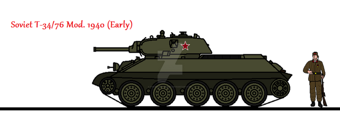 Soviet T-34/76 Mod. 1940 (Early) by thesketchydude13