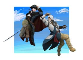 Haytham and Connor by hakusekirei