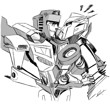 Elita et Starscream by Moontowhee
