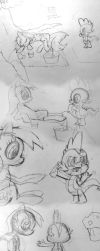 Unfinished Derpy Game Cutscene Sketches by InfinityDash
